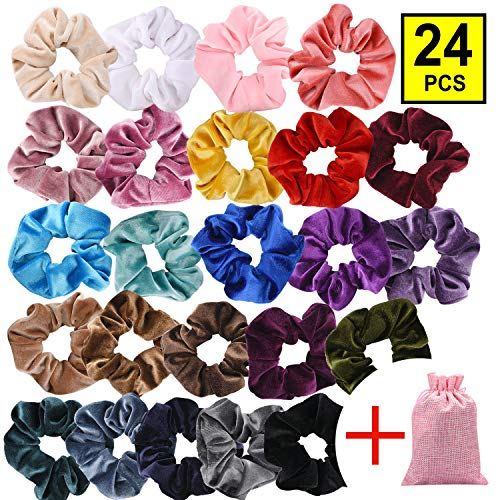 Printed Hair Elastics Pony Bands Long Lasting Thick Bobbles 10pcs Superior Quality In
