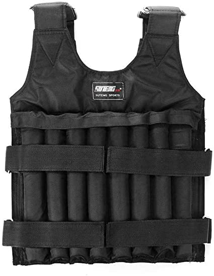 rft 20kg//44lb Weighted Vest Adjustable Loading Weight Jacket Exercise Weightloading Vest Boxing Training Waistcoat Fitness Workouts Endurance /& Strength Training Workout Equipment