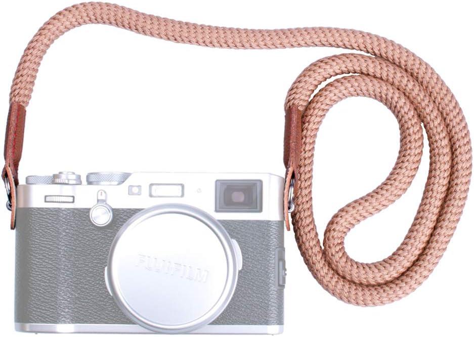 VKO Soft Cotton Camera Neck Strap, Shoulder Strap Compatible with Sony A6000 A6300 A6500 A6400 A6100 A6600 RXIR II RX10 IV X100F X-T30 X-T3 X-T4 X-T20 X-T2 X100T Camera Coffee