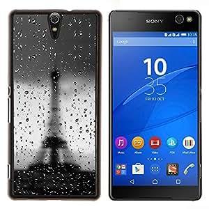YiPhone /// Prima de resorte delgada de la cubierta del caso de Shell Armor - Torre Eiffel de París Lluvia Tiempo triste romántica - Sony Xperia C5 Ultra