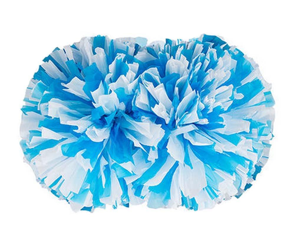 2 Pieces Parties Cheerleading Pom/Creative School Spirit Pom, Blue&White PANDA SUPERSTORE PS-SPO3402251-KARY01234
