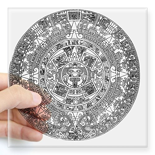 CafePress aztec Square Sticker Bumper