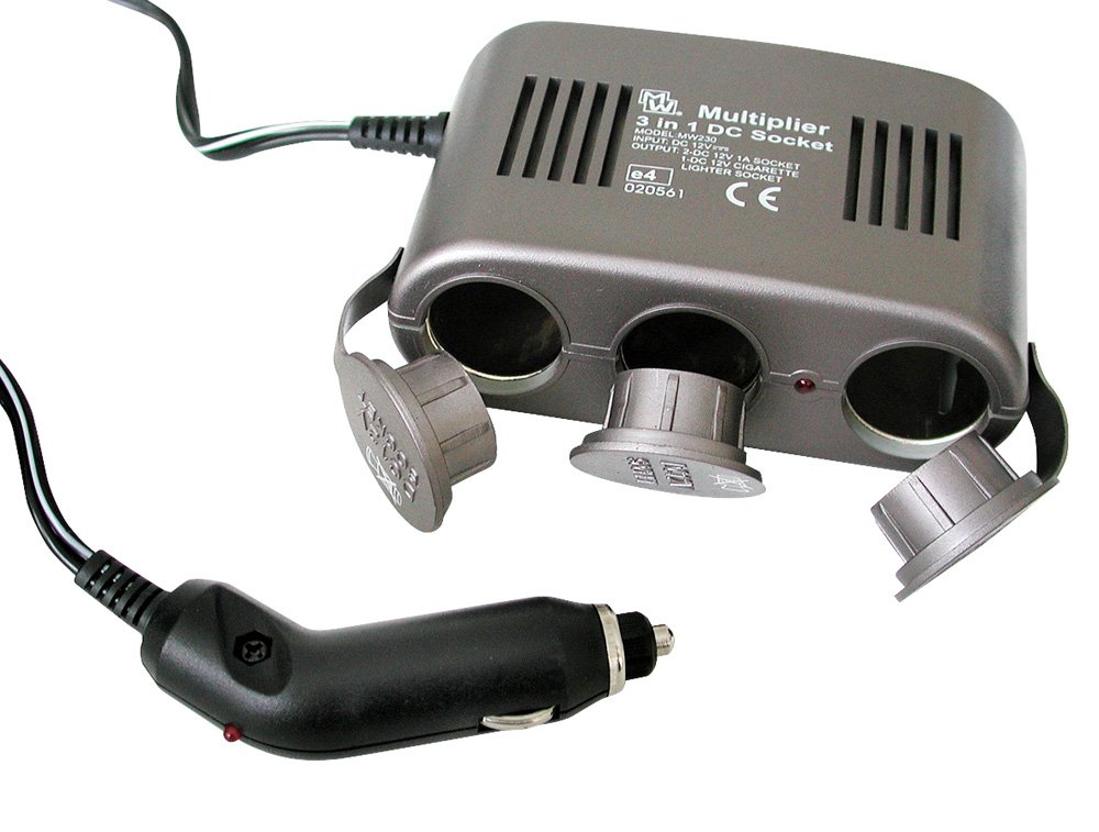 c/âble 1 m Eufab 16566 Prise Allume-Cigare 12 V 3 en 1 avec s/écurit/é 10 A LED de contr/ôle