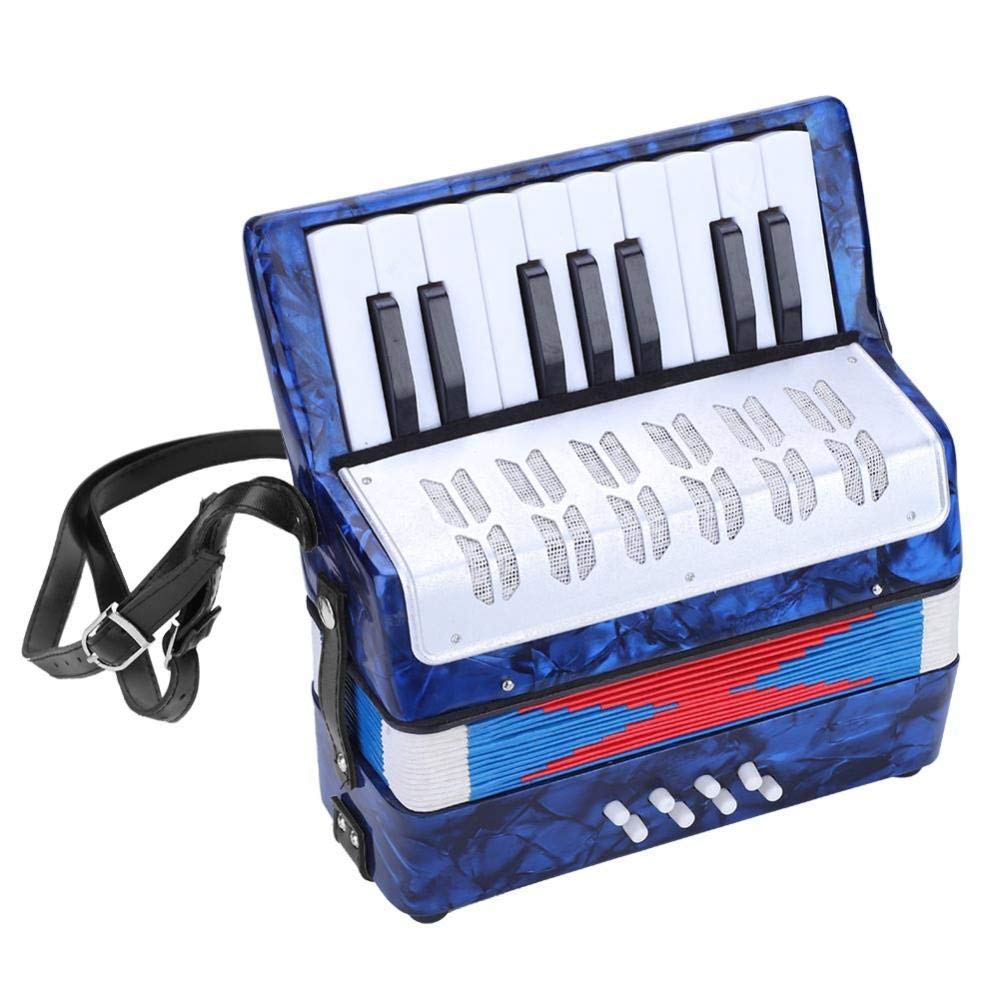 Children Accordion, Mini 17-Key 8 Bass Piano Accordion for Kids Children Amateur Beginner(Blue) by VGEBY (Image #8)