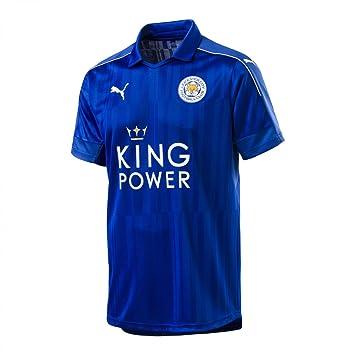 18e7ac29fed6c Puma Camiseta Leicester City Home Replica 2016 17  Amazon.es  Deportes y  aire libre