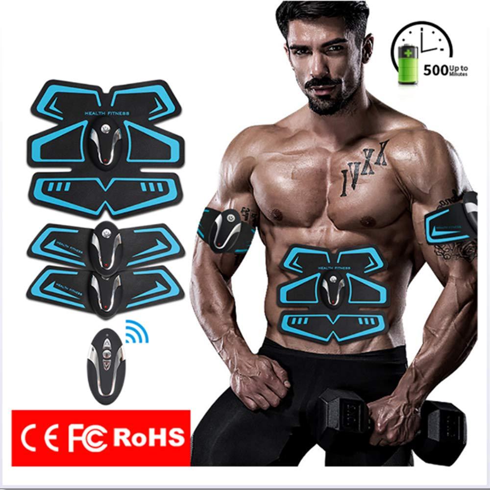 MJW Bauch Straffung Gürtel, Muskel Stimulator ABS Trainer Fitness USB-Aufladung mit Fernbedienung Muskel Toner Bauchmuskel Übungs Bänder