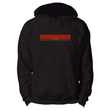 8615b68bf0d RoyalTeesUK Mens Hoodie Gucci Gang Lil Pump Black  Amazon.co.uk  Clothing