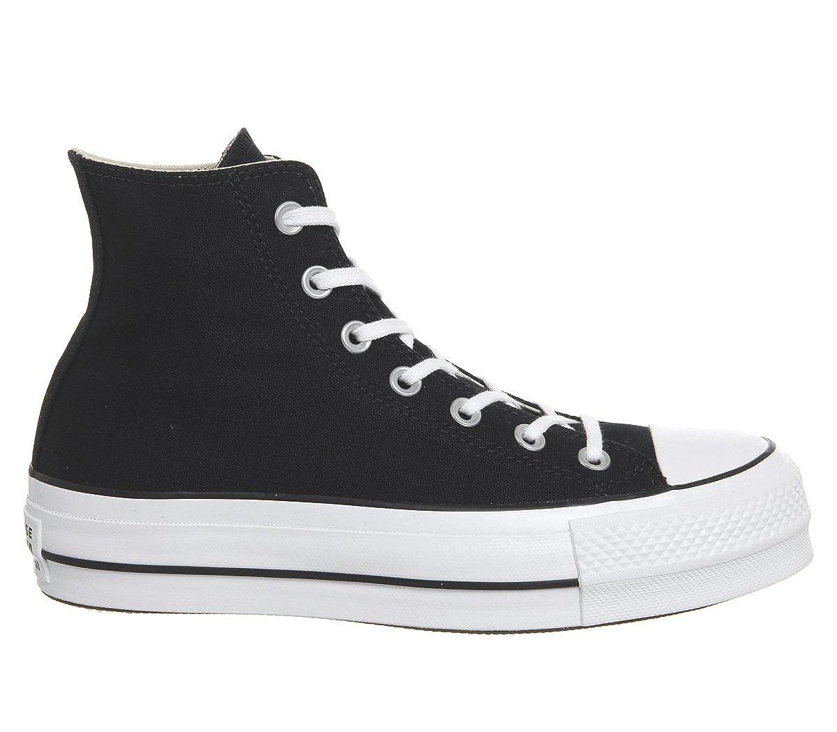 Converse CTAS Lift Hi Black White, Zapatillas Altas Unisex Adulto