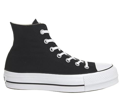 converse ctas lift hi platform scarpe donna nere