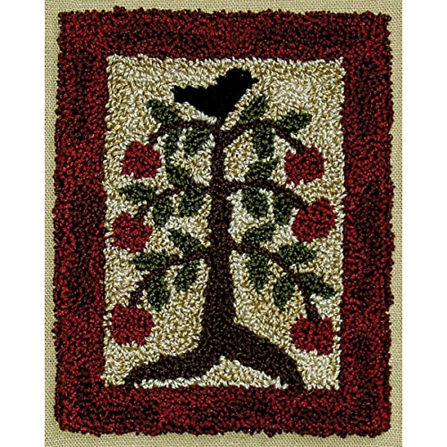 Rachel's Of Greenfield Apple Tree Punch Needle Kit, 3 by 4-Inch