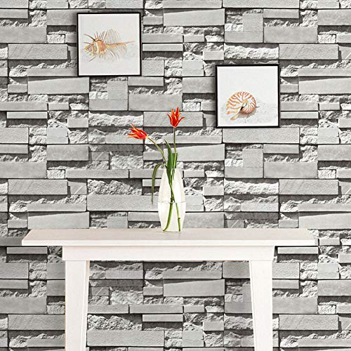 Clothing Chinese Store (XUEXUE Wallpaper, Vintage Brick Antique Bricks Culture Stone Wallpaper Living Room TV Background Clothing Store Chinese Restaurant (10m0.53m) (Color : A))