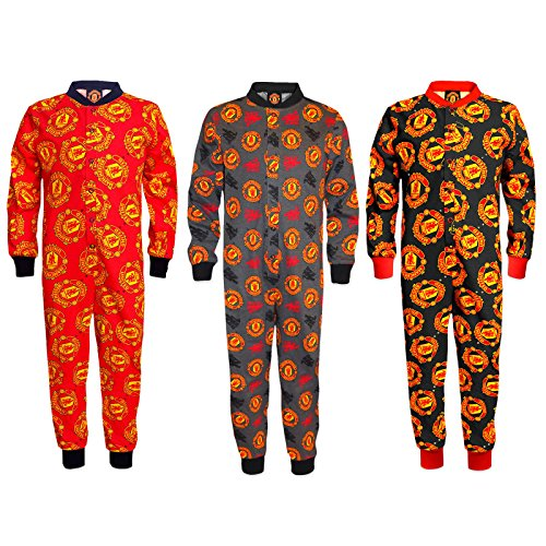 Manchester United Football Club Official Soccer Gift Boys Kids Pajama All-In-One