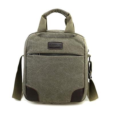 fbb8a9658ba3 Men Retro Leisure Canvas Bag Multi-compartment Shoulder Messenger ...