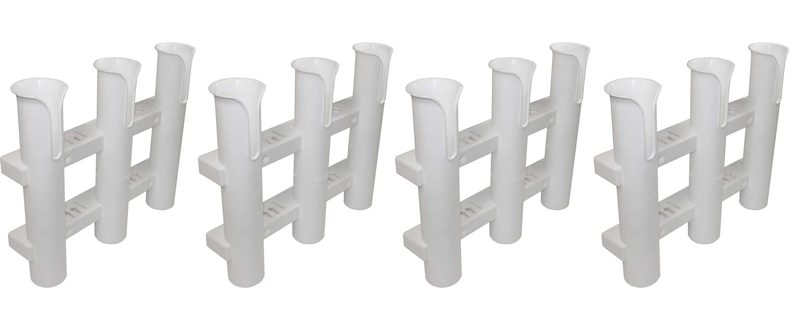 SeaSense Single Piece 3 Rack Rod Holder, White (Fоur Paсk) by SeaSense (Image #1)