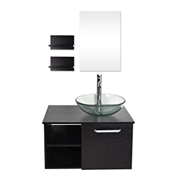 Yourlite Wall Mounted Single Bathroom Vanity Modern Bathroom