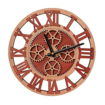 Giftgarden Horloge Murale Design Silencieux Engrenage créatif Cadeau Noël 479507490057
