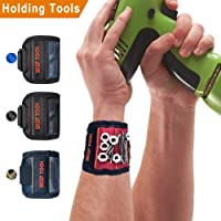 Magnetic Screws Wristband with 10 Powerful Magnetic Wristband for Holding Screws Nails,Bits,Fasteners,Washers,Bolts, Small Tools,Gift for DIY Handyman,Men,Women,Dad,Husband,Boyfriend