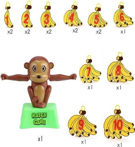 Vaycally Kids Juguete divertido Adición y sustracción Juego de mesa Escala Mono Balance Genial juego de matemáticas para niñas y niños Diversión Educativa Regalo del día de los niños: Amazon.es: Hogar