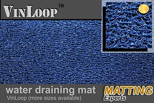 VinLoop Vinyl Pool, Bathroom, Locker Room, Shower, Spaghetti Mat by MattingExperts Drains Water, Comfortable Looped Mat (3x2, Blue) Locker Room Mat