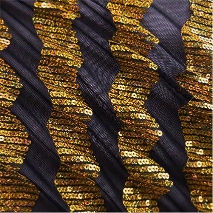 4e30047c25c Image Unavailable. Image not available for. Color  Black Gold Sequin Stripe  Chevron ...