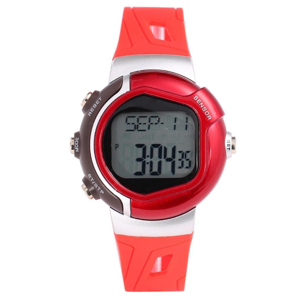 lt-select nuevo color rojo pulsómetro reloj - mejor para hombres y ...