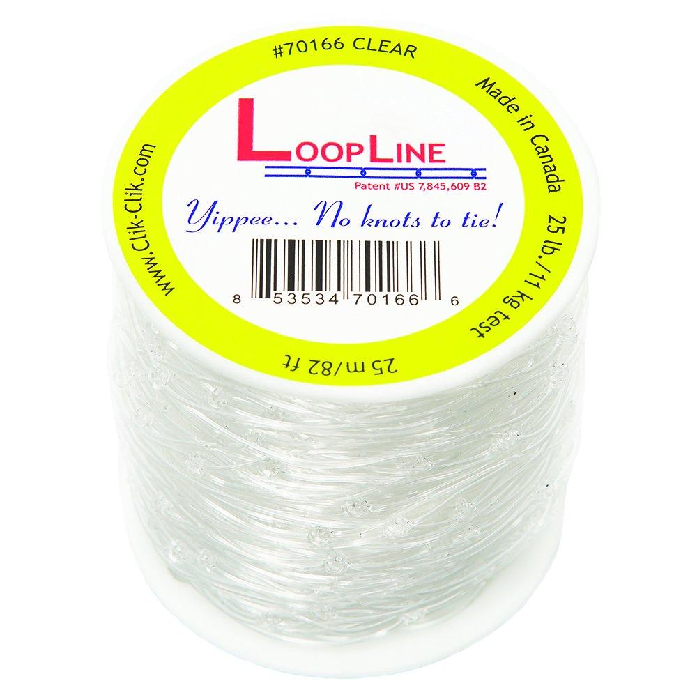 Clear LoopLine (82 ft. long) for Clik-Clik Magnetic Hanging System