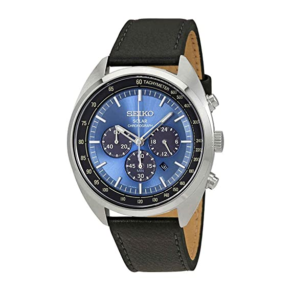 Seiko Reloj Cronógrafo para Hombre de Energía Solar con Correa en Cuero SSC625P1: Seiko: Amazon.es: Relojes