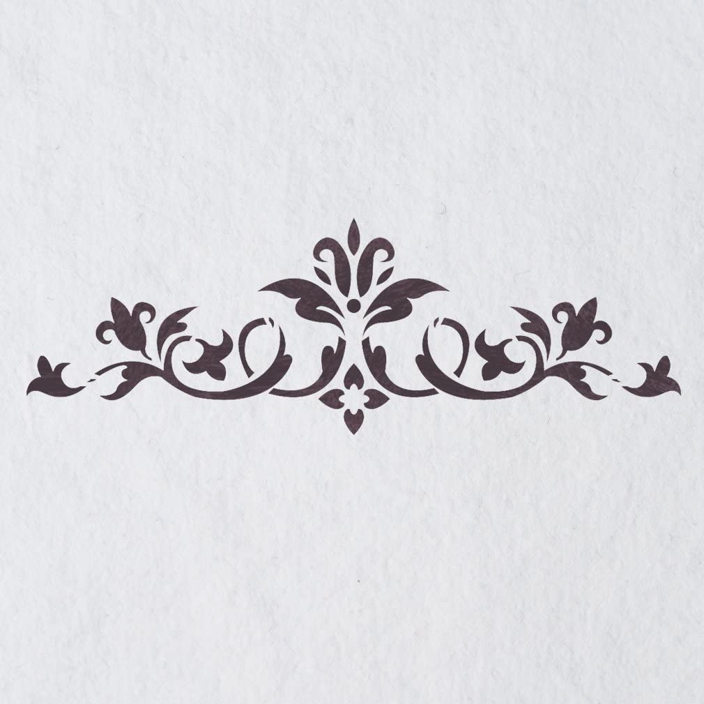 J BOUTIQUE STENCILS Stencil Template Flower Land Medium Size Reusable Stencils for DIY Decor Walls Furniture Painting