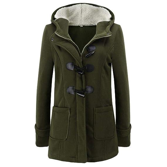 SOLELING Donna Warm Cappotti Casual Giacche di Tasche Reali in Hoodie Cappotto  con Cappuccio Invernale Parka 67c5914cfea