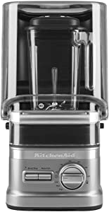KitchenAid KSBC1B2CU NSF Enclosure Commercial Blender, 60 oz, Contour Silver