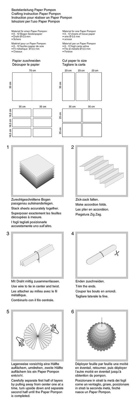 Seidenpapier 10 Bogen in der Farbe californiablau 50 x 70 cm Paper Pompons