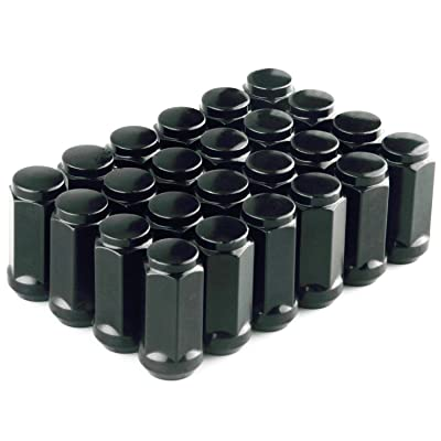 """DCVAMOUS 24pc Extended Wheel Lug Nuts 14x1.5 Thread - 1.8"""" Tall Cone Seat 3/4"""" Hex for 6 Lug Chevy GMC Aftermarket Wheels, 2015-2020 Ford F150,2011-2020 Jeep Grand Cherokee,2007-2020 Toyota Tundra: Automotive"""