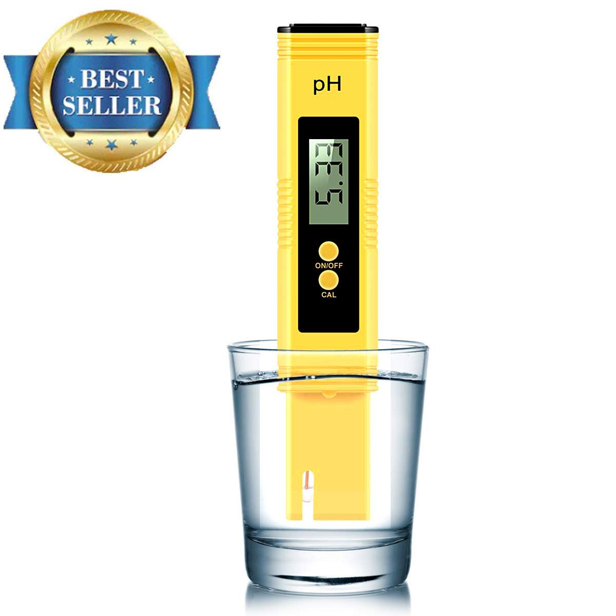 Vminno Digital PH Meter, PH Meter 0.01 PH High Accuracy Water Quality Tester with 0-14 PH Measurement Range for Household Drinking, Pool and Aquarium Water PH Tester Design with ATC … (2019)
