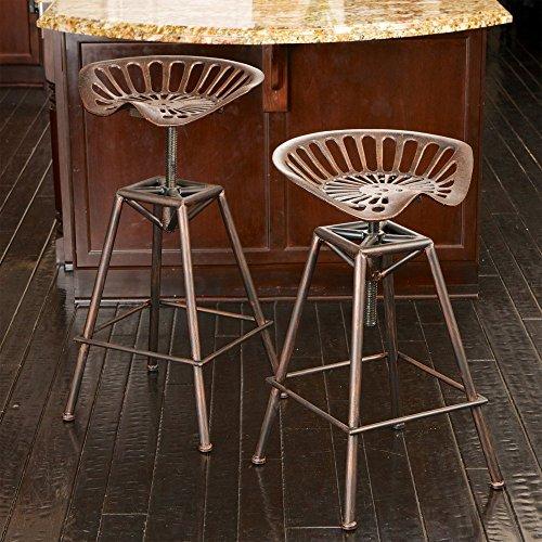 rustic bar stools. Best-selling Charlie Saddle Bar Stool, Copper Rustic Stools