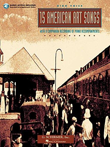 15 American Art Songs: High Voice by G. Schirmer