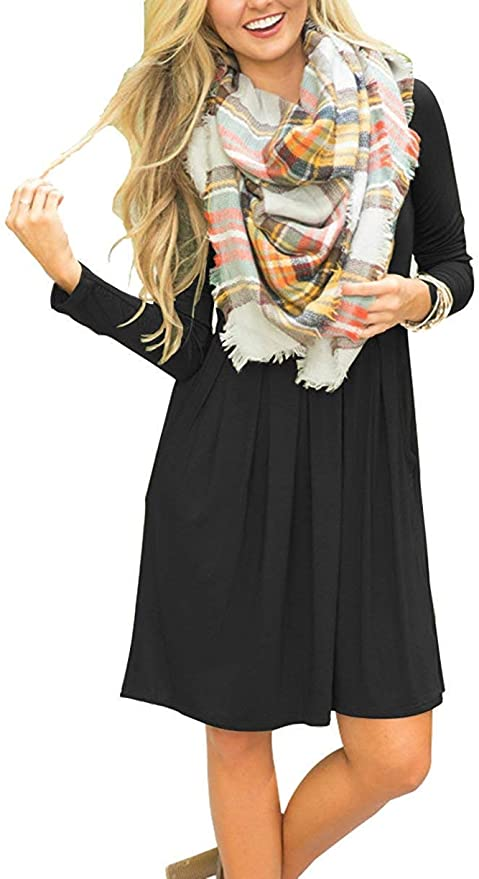 23 COLORS! TOP SELLING WOMEN'S LONG SLEEVE CASUAL DRESS! MUST HAVE!
