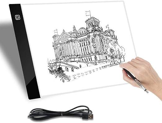 Mesa De Luz De Dibujo Caja De Luz Led Tableta De Dibujo A4 ...