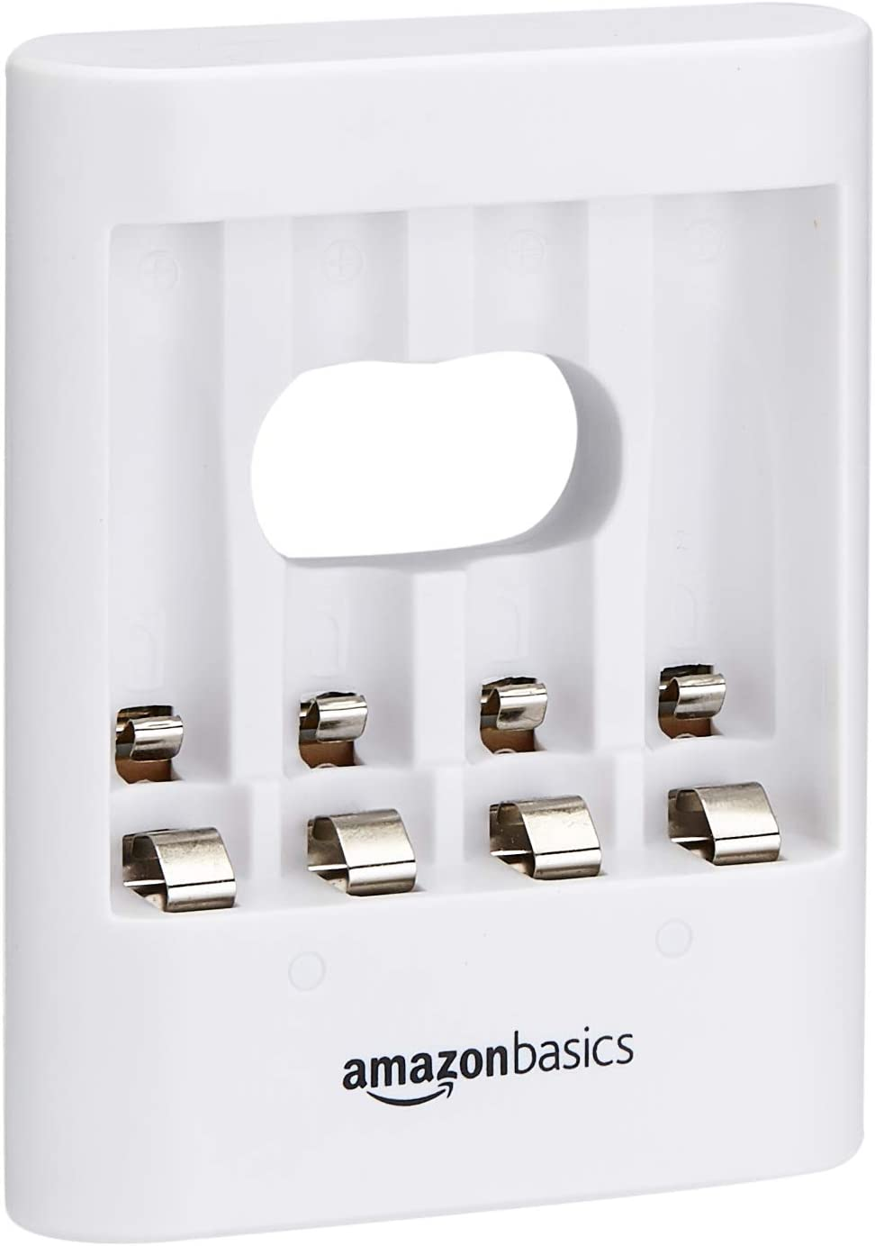 AmazonBasics Overnight USB Battery Charger for AA / AAA Ni-MH - White