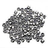 100pcs M3 Nylon Insert Locking Nut Stainless Steel Screw Lock Hexagon Hex Nuts