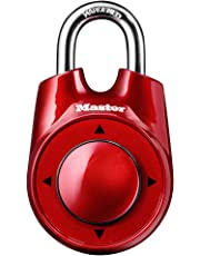 Master Lock Padlock, Set Your Own Speed Dial™ Combination Lock, 2-1/8 in. Wide, Assorted Colors, 1500iD