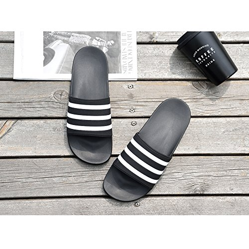 1069 for Black Shower Womens Pool Slippers Slides Water Shoes Beach Sandals Mens Bastolive wWO7SqxBS
