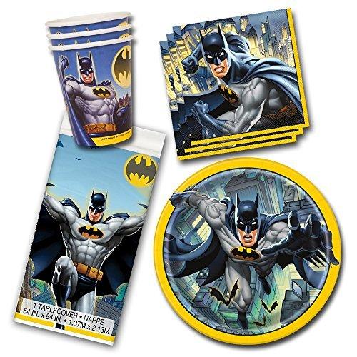 Batman DC Comics Superhero Birthday Party Tableware Pack Kit For 16 -
