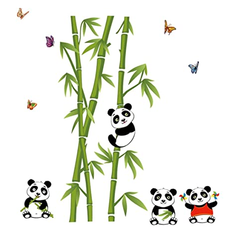 Handlife Stickers Muraux Wall Sticker Avec Jolis Dessins Panda