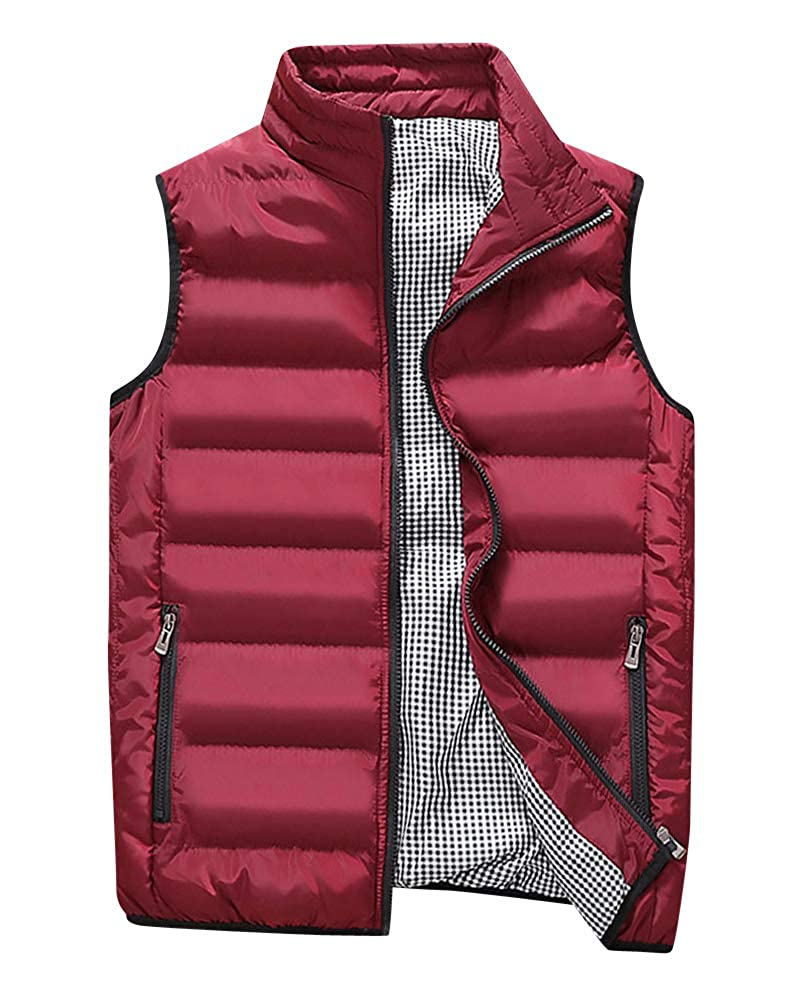 Shaoyao Men's Quilted Gilet Vest Body Warmer Zipper