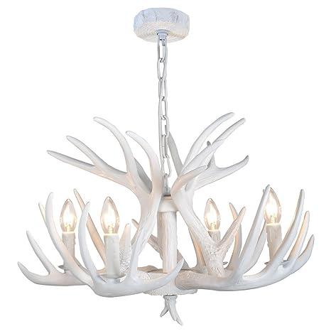 effortinc resin antler chandelier white antler chandelier living