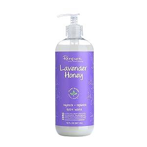 Renpure Plant-Based Beauty Lavender Honey Hydrate + Replanish Body Wash, 19 Fluid Ounces