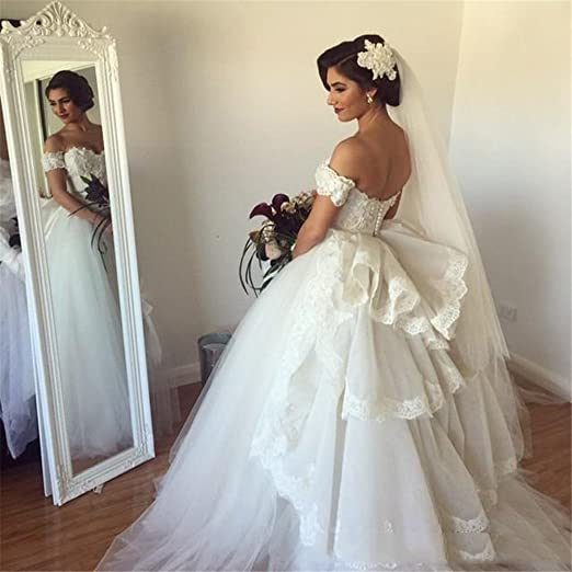 Tsbridal Ball Gown Wedding Dresses 2017 Sweethear Lace Bridal Dresses at Amazon Womens Clothing store: