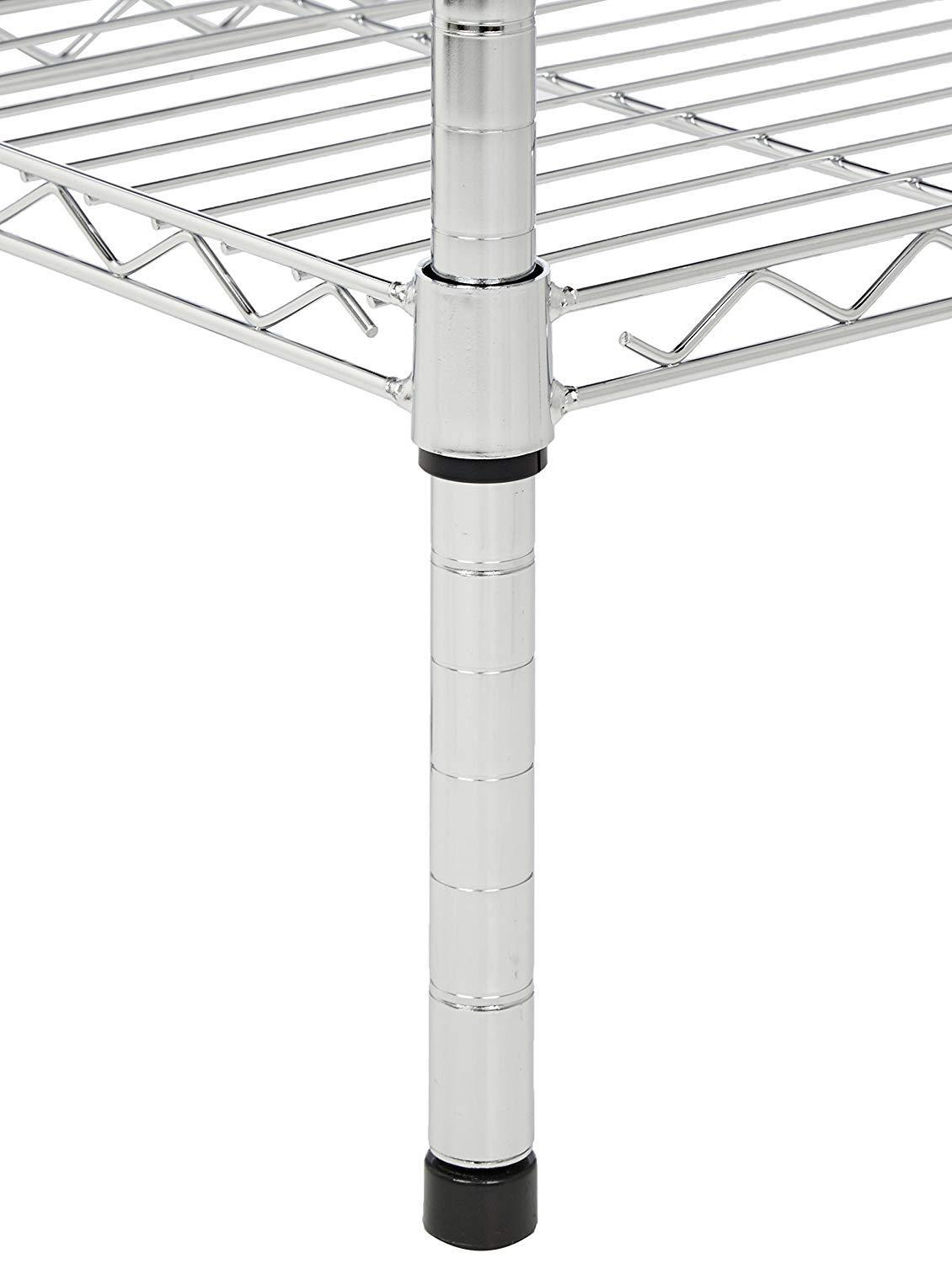 Commercial Chrome Wire Shelving Posts 24'' - 4 Posts by L and J
