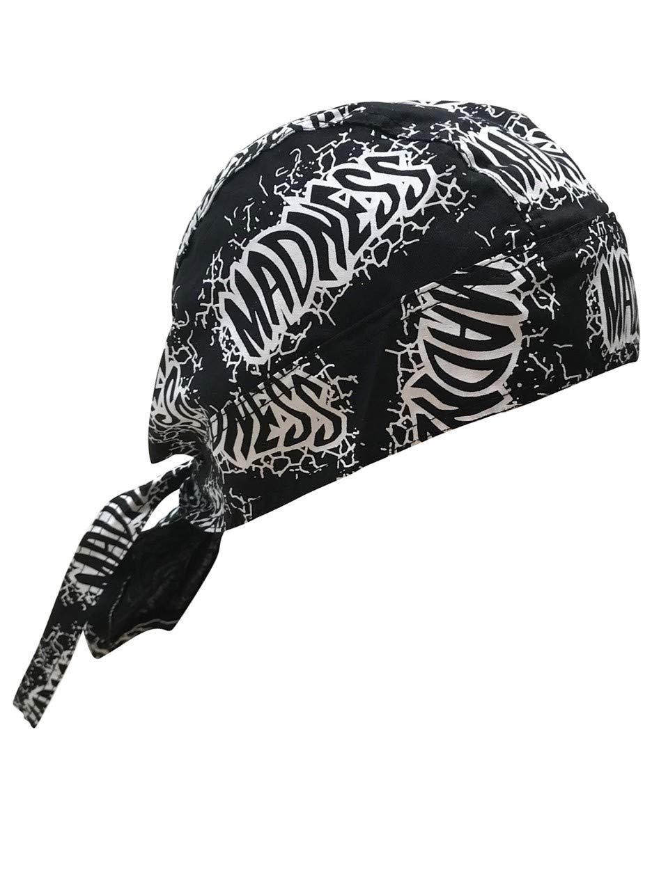 Macho Man Madness Bandana Skull Cap Doo Rag Randy Savage Costume -Black