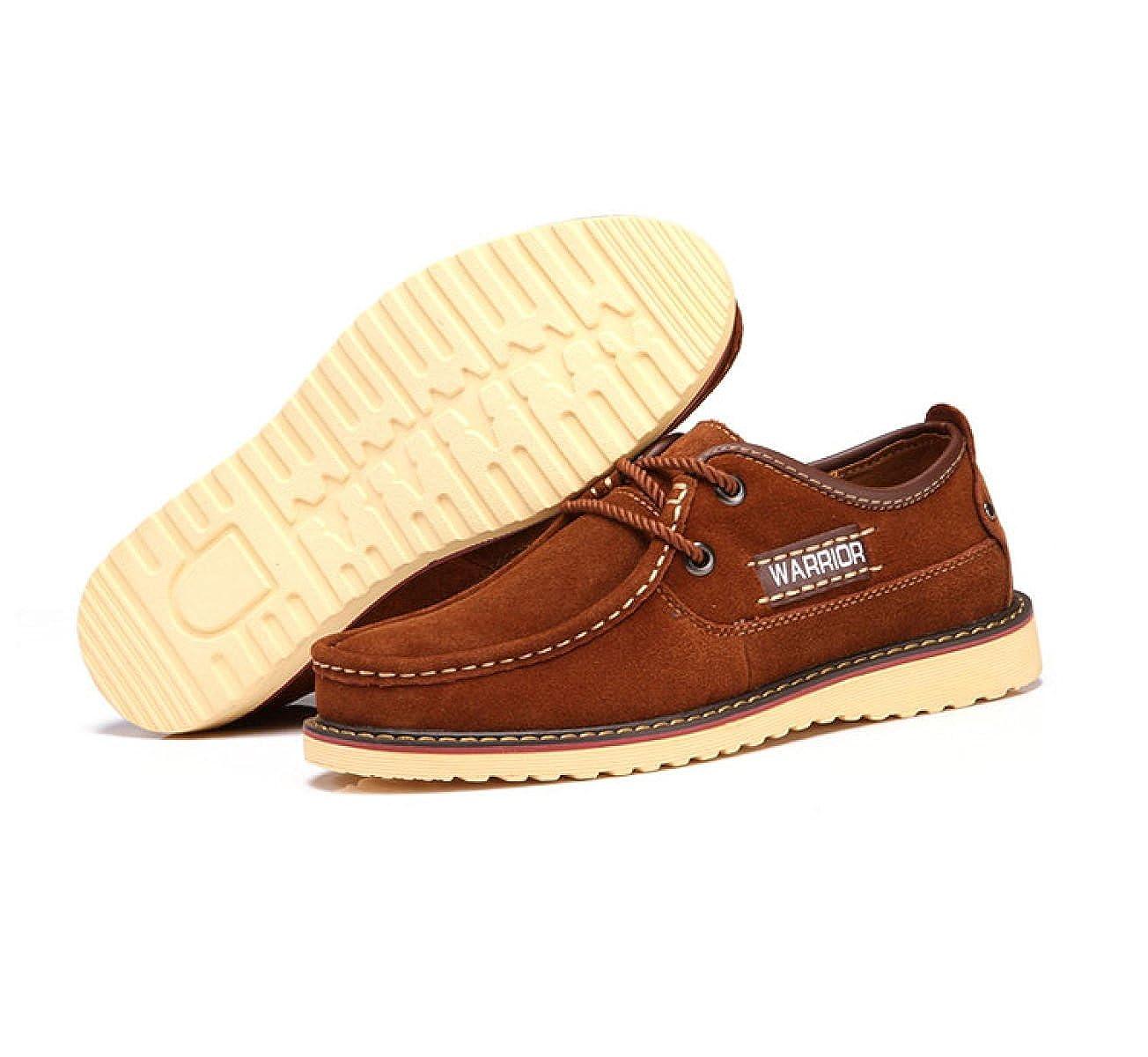 OEMPD Herren Schuhe Fashion Casual Echtes Leder Schuhe Herren Trend Gebürstet Braun 3771c3